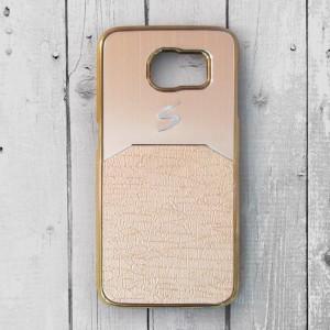 Ốp lưng Samsung Galaxy S6 dẻo chữ S (Vàng)