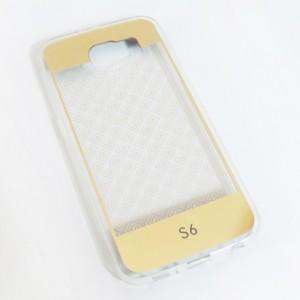 Ốp lưng nhựa dẻo Galaxy S6 tráng gương vân lưới