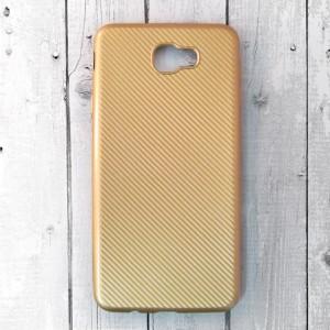 Ốp lưng dẻo Samsung Galaxy J7 Prime vân Carbon (Vàng)
