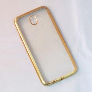 Ốp lưng Samsung Galaxy J7 Pro viền màu (Vàng)