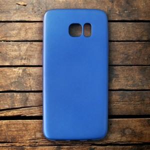 Ốp lưng dẻo Samsung Galaxy S7 Edge nhung (xanh)