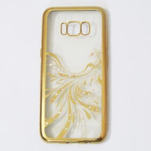 Ốp lưng đính đá Samsung Galaxy S8 xi vàng