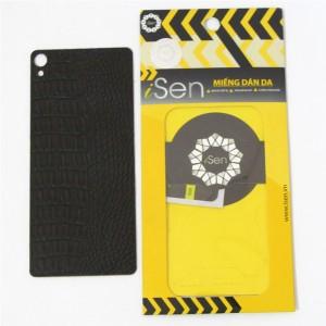 Miếng dán da Bò Sony Xperia XA Ultra F3216 hiệu iSen (Nâu)