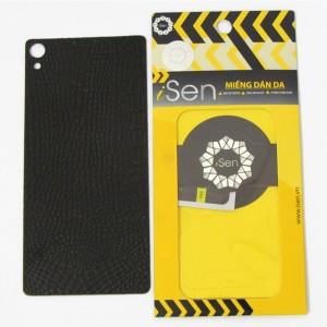 Miếng dán da Bò Sony Xperia XA F3116 hiệu iSen (Nâu)