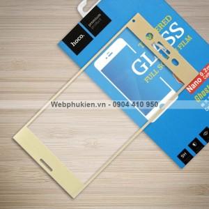 Miếng dán cường lực Sony Xperia XZ Premium hiệu HOCO Full màn hình (Vàng)