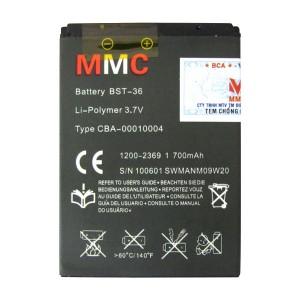 Pin Sony Ericsson BST-36 700mAh hiệu MMC