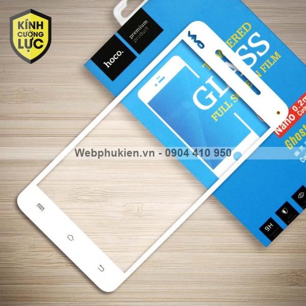 Miếng dán cường lực Vivo V3 hiệu HOCO Full màn hình (Trắng)