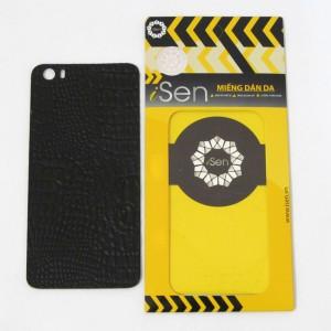 Miếng dán da Bò Xiaomi Mi 5 hiệu iSen (Đen)