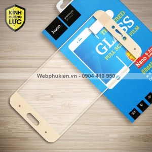 Miếng dán cường lực Xiaomi Mi 5C hiệu HOCO Full màn hình (Vàng)