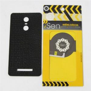 Miếng dán da Bò Xiaomi Redmi Note 3 hiệu iSen (Đen)