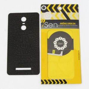 Miếng dán da Bò Xiaomi Redmi Note 3 hiệu iSen (Nâu)