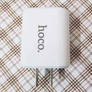 Cốc sạc củ sạc HOCO 2 cổng 2.1A (mã UH204) cho Android, IOS, Windowsphone