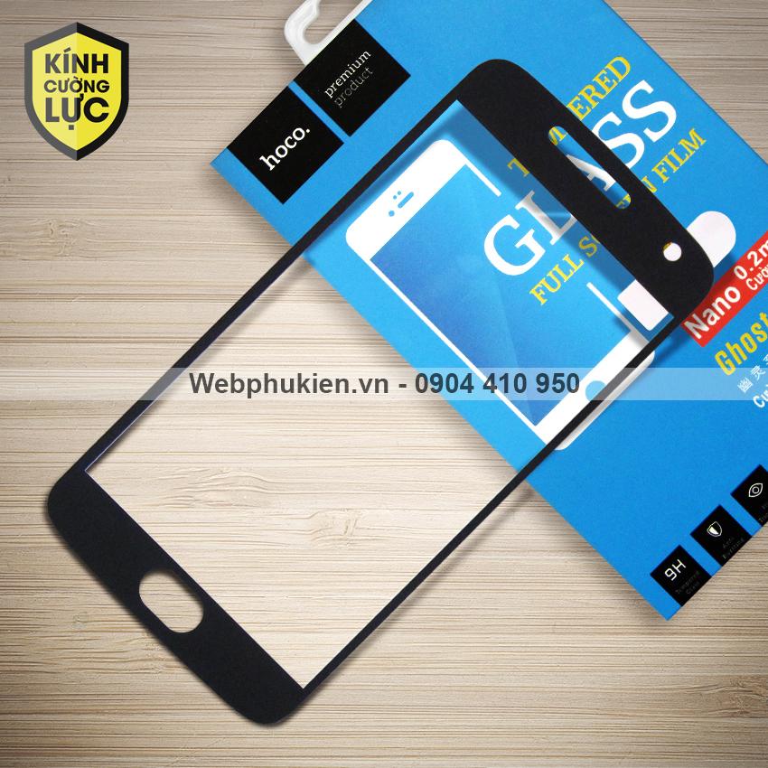Miếng dán cường lực Motorola Moto G5 Plus hiệu HOCO Full màn hình (Đen)