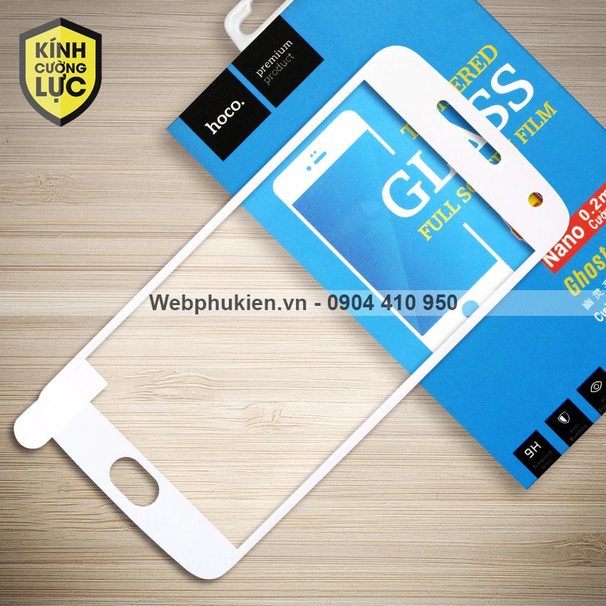 Miếng dán cường lực Motorola Moto G5 Plus hiệu HOCO Full màn hình (Trắng)