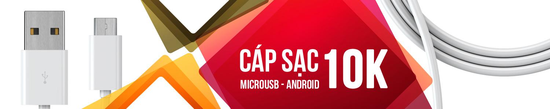 Cáp sạc microUSB Android dài 1000mm chính hãng