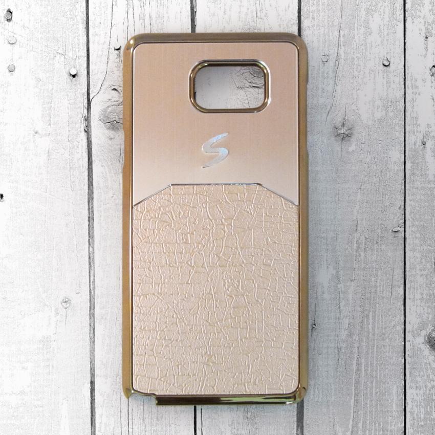 Ốp lưng Samsung Galaxy Note 5 dẻo chữ S (Vàng)