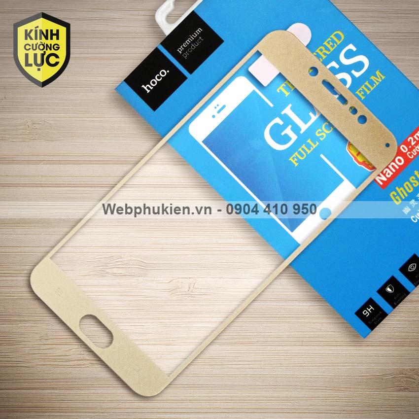 Miếng dán cường lực Vivo V5 hiệu HOCO Full màn hình (Vàng)